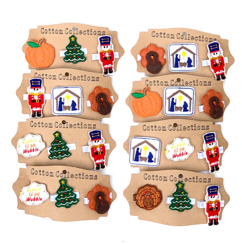 Thanksgiving and Christmas feltie set