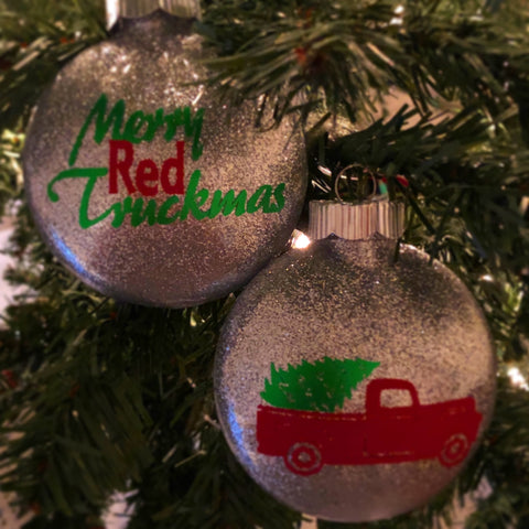 Merry Red Truckmas ornament