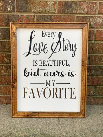 Love story canvas, our love story art