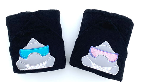 Cool Shark hooded towel