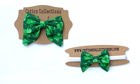 St Patrick's bow, fabric bow, first st paddy's day