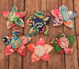 Lilly personalized fabric flower