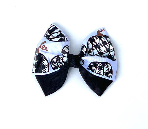 Pumpkin bow, thanksgiving bow, fall bow