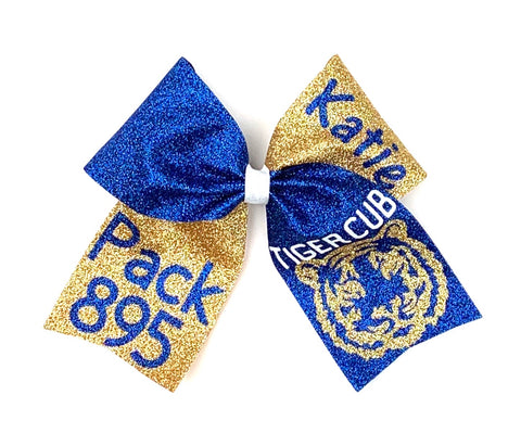 Custom cheer bow  - Full Glitter