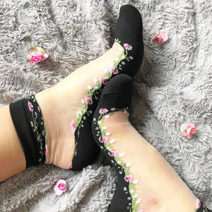 Have Stylish Womens Floral Socks