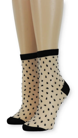 Polka Dotts Sheer Socks-Global Trendz Fashion