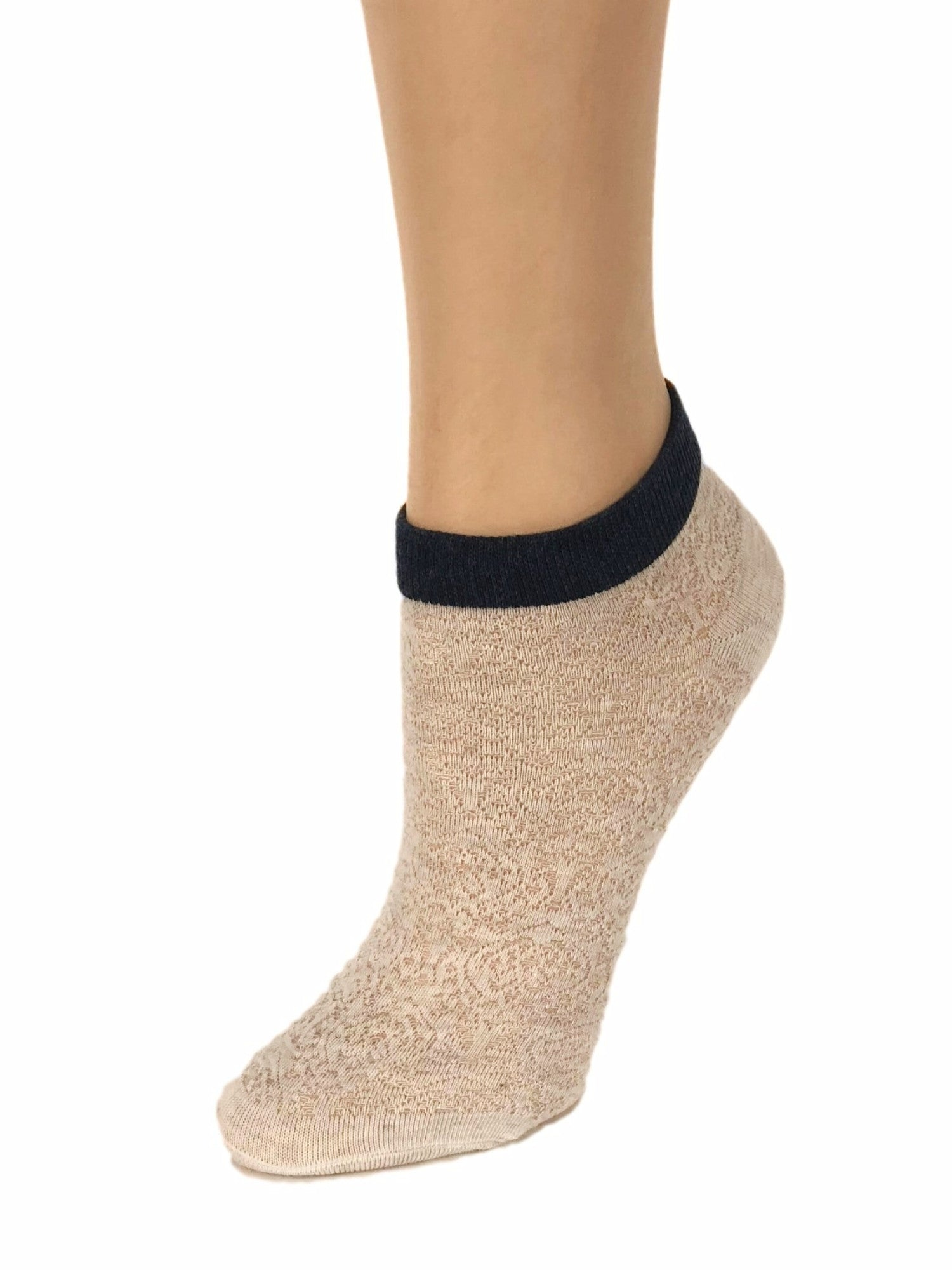 Elegant Black-Stripped Ankle Sheer Socks - Global Trendz Fashion®