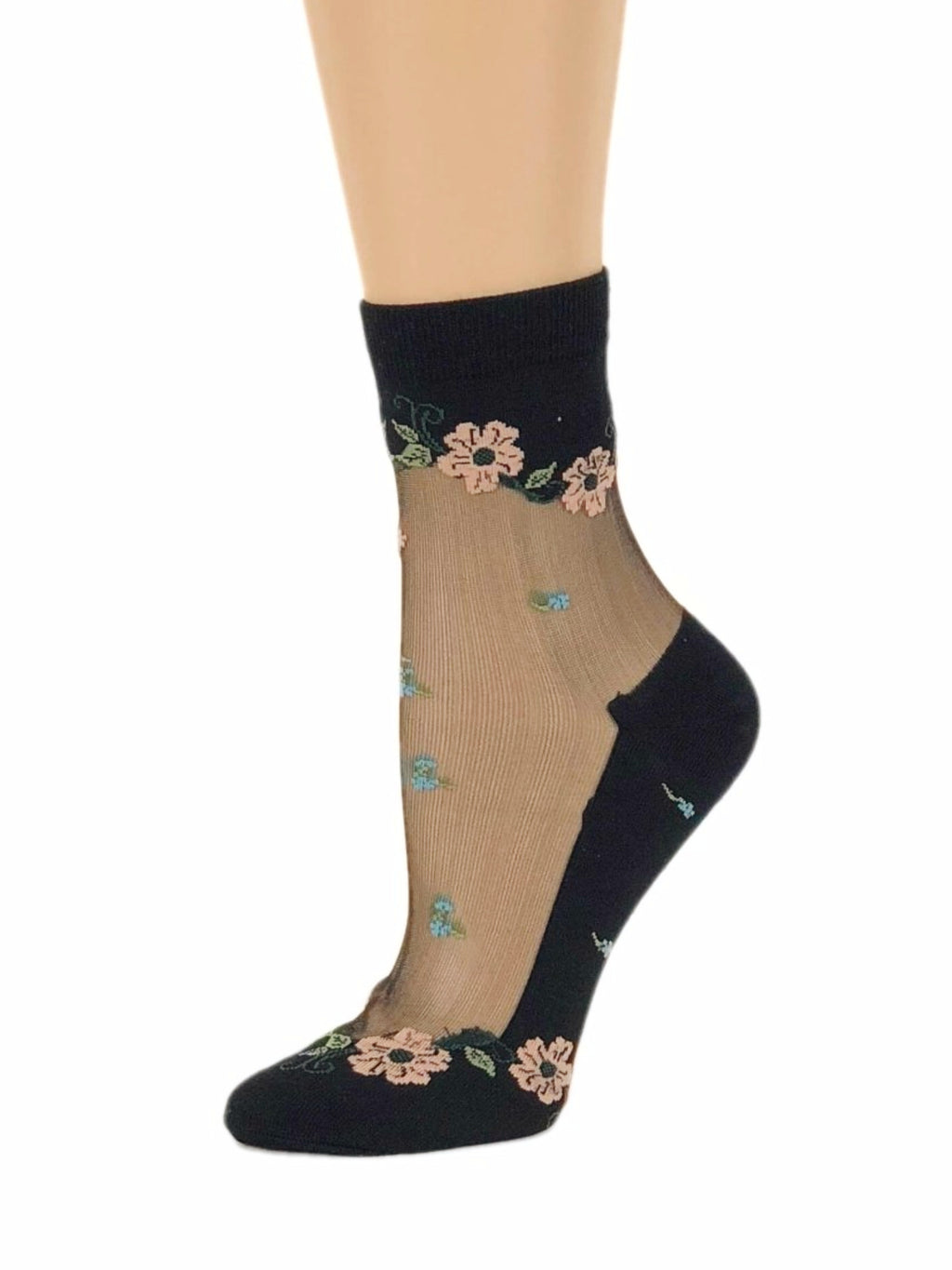 Frenzy Floral Sheer Socks - Global Trendz Fashion®