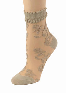 Adorable Skin Flower Sheer Socks - Global Trendz Fashion®