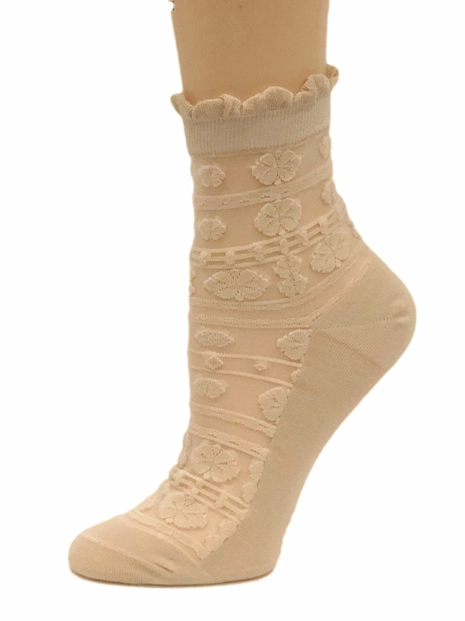 Stunning Beige Sheer Socks-Global Trendz Fashion®
