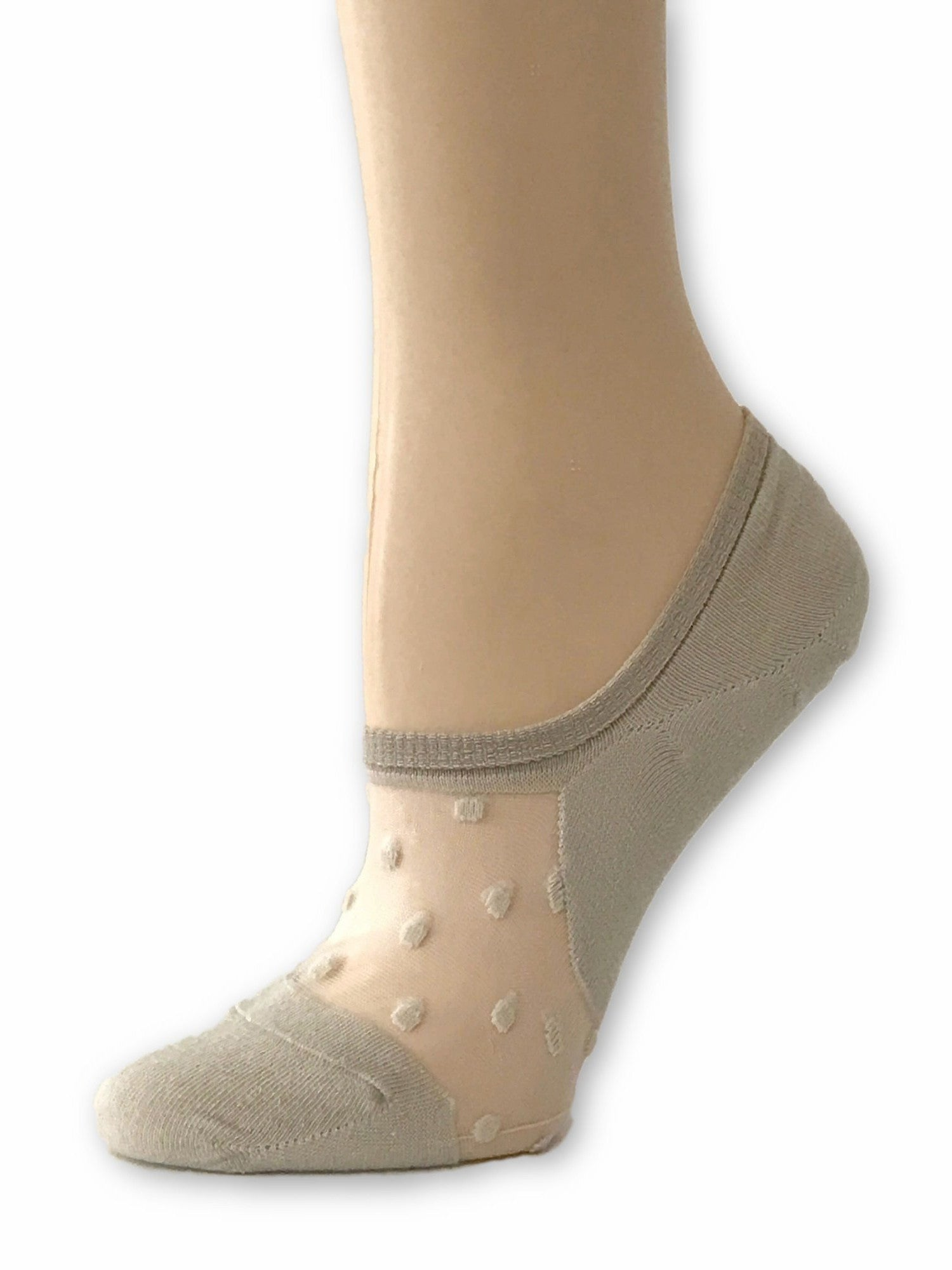 Elegant Skin Dotted Ankle Sheer Socks - Global Trendz Fashion®