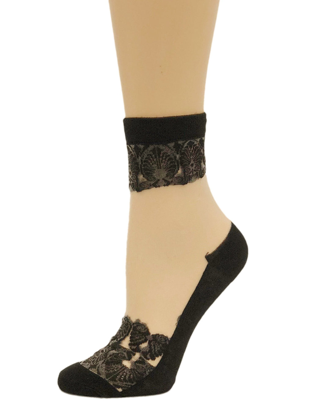 Dashing Black Sheer Socks - Global Trendz Fashion®