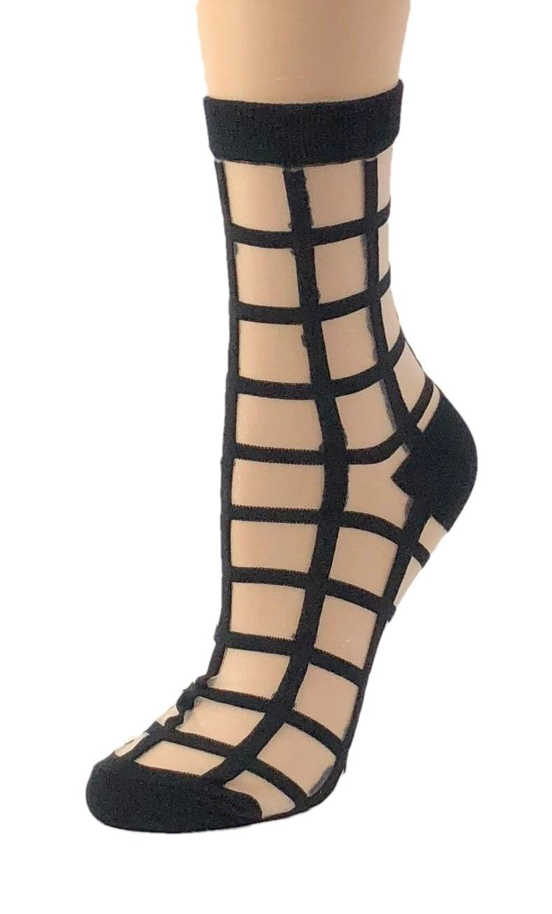 Charcoal Black Sheer Socks - Global Trendz Fashion®