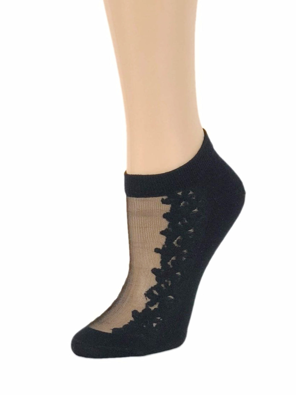 Gorgeous Black Patterned Ankle Sheer Socks - Global Trendz Fashion®