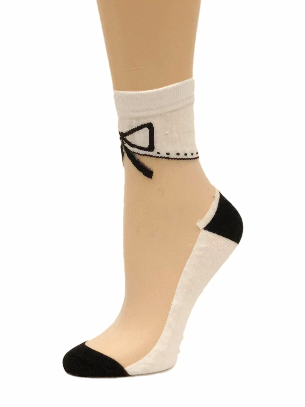 Bow White Sheer Socks - Global Trendz Fashion®