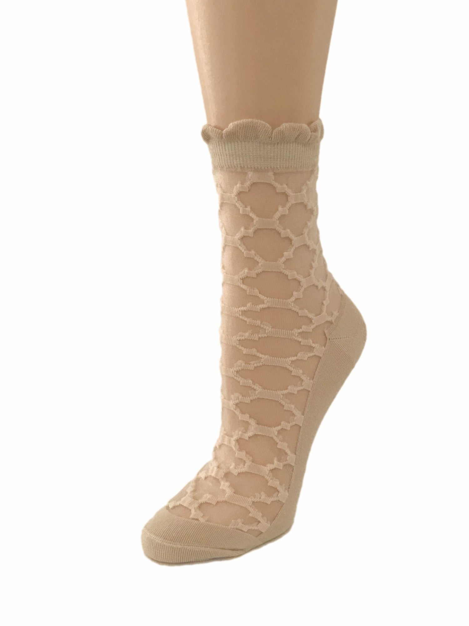 Patterned Skin Sheer Socks - Global Trendz Fashion®