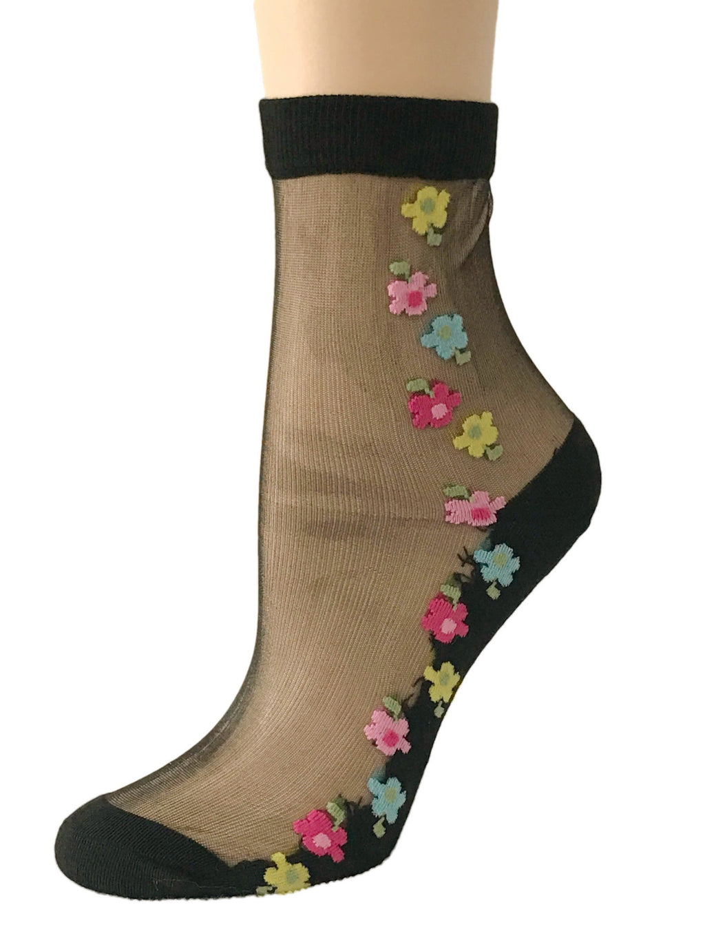 Four Color Floral Sheer Socks - Global Trendz Fashion®