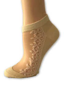 Skin Patterned Ankle Sheer Socks - Global Trendz Fashion®