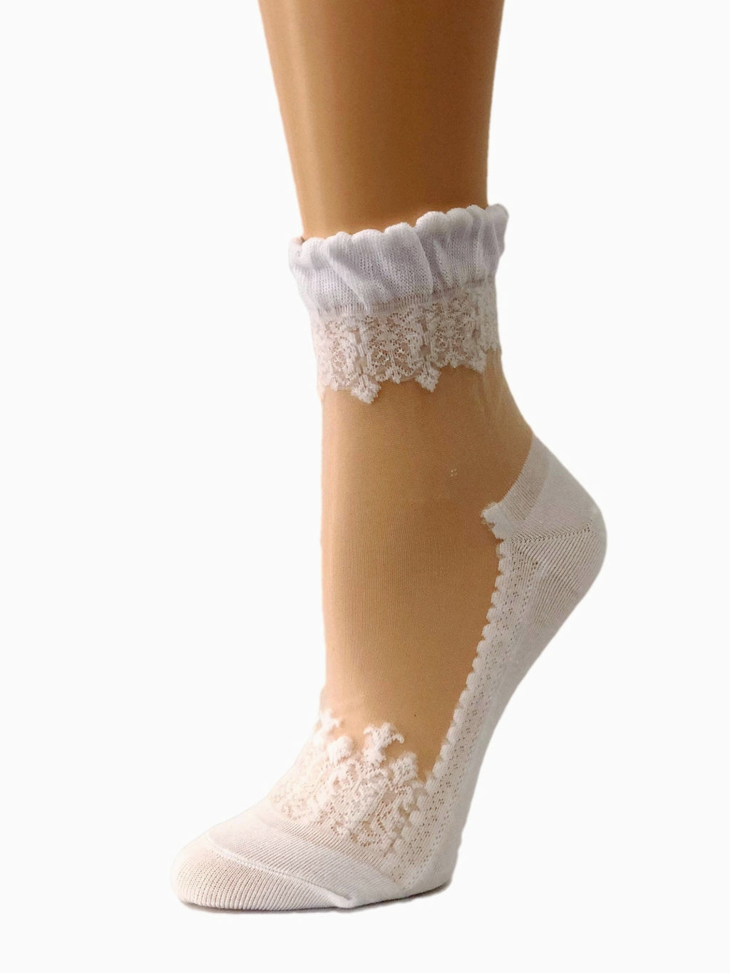 Blazing White Sheer Socks - Global Trendz Fashion®