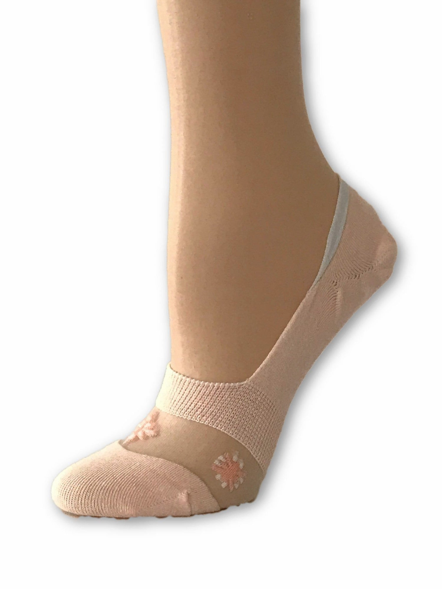 One-Stripped Baby Pink Ankle Sheer Socks - Global Trendz Fashion®