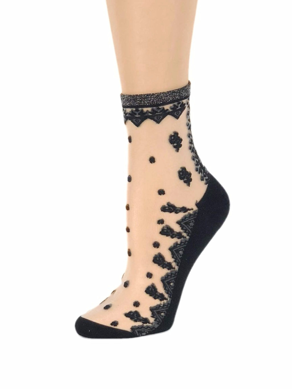 Dark Black Sheer Socks - Global Trendz Fashion®