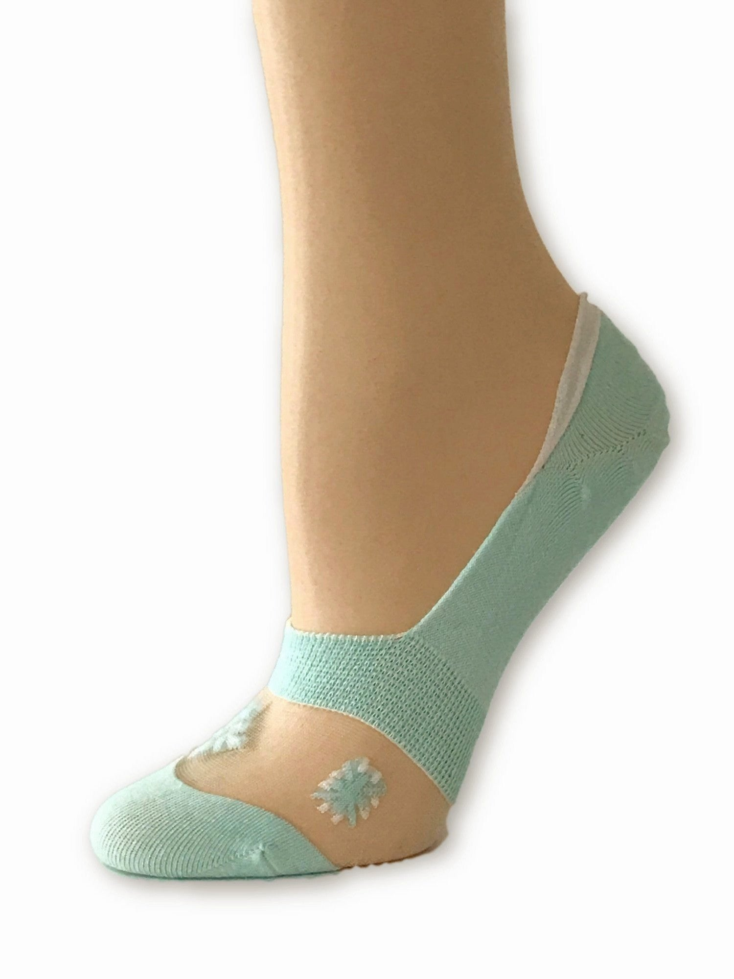 One-Stripped Turquoise Ankle Sheer Socks - Global Trendz Fashion®