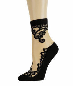 Rich Black Sheer Socks - Global Trendz Fashion®