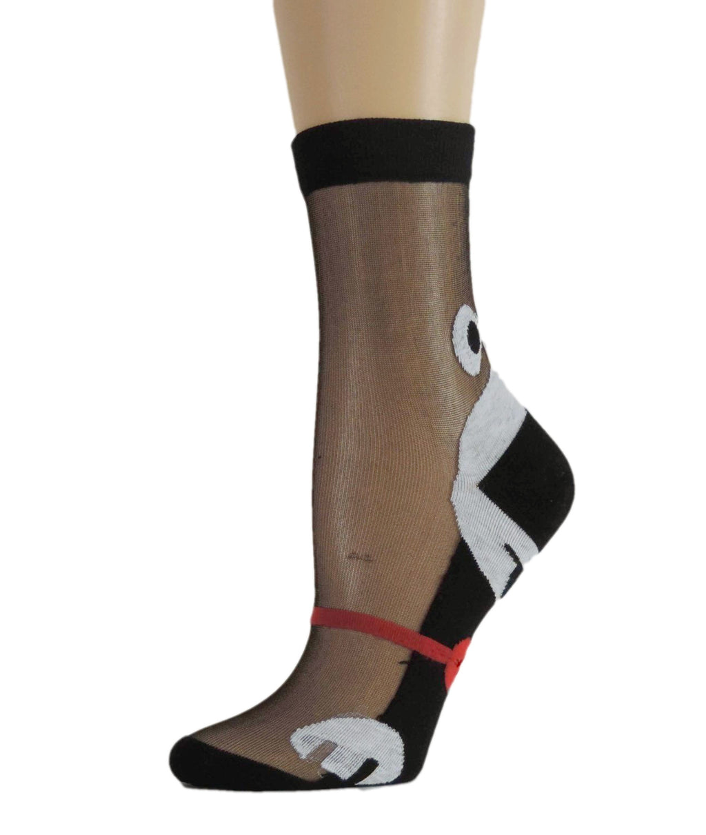 Cute Dog Sheer Socks - Global Trendz Fashion®