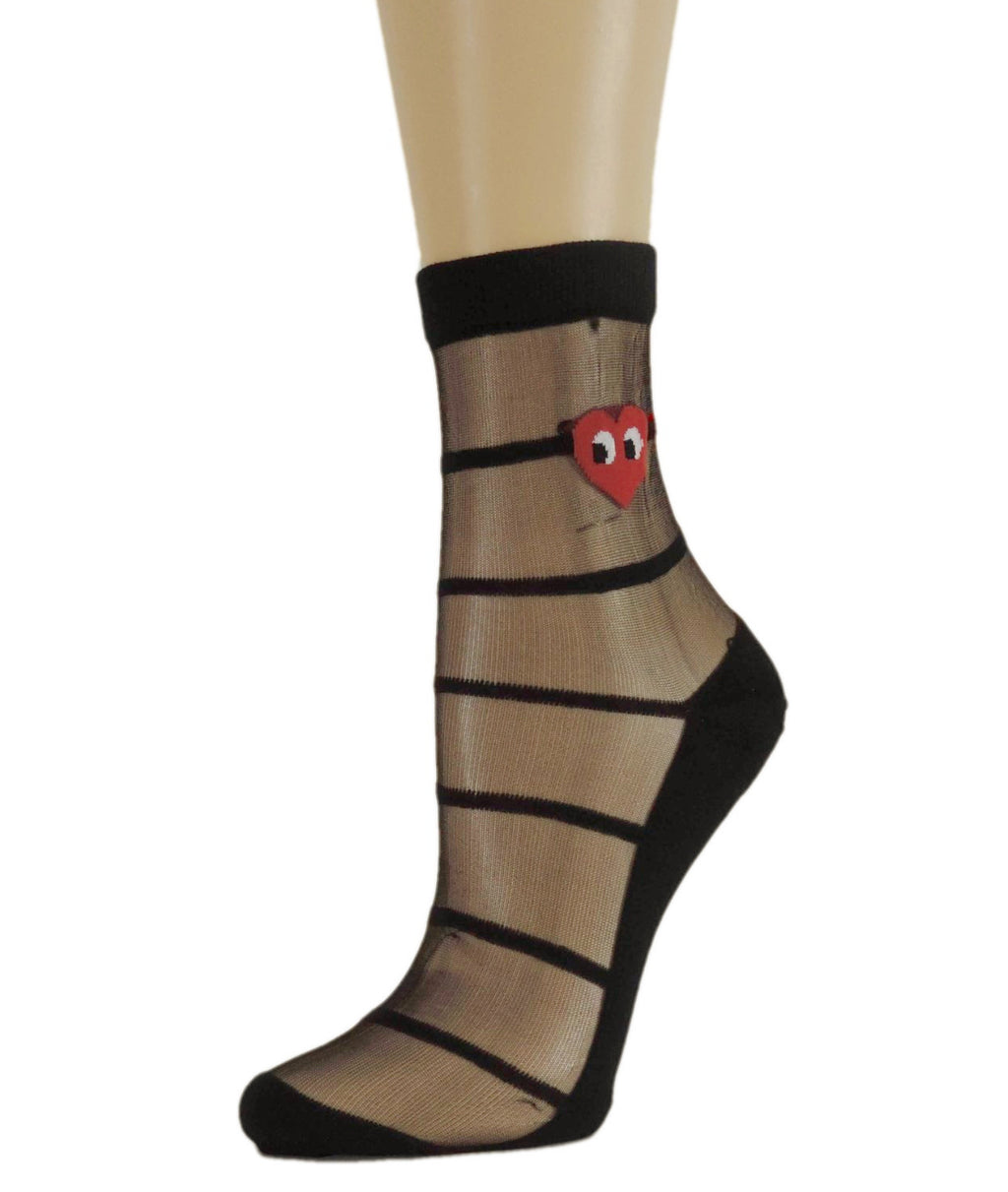 Red Heart Sheer Socks-Global Trendz Fashion®
