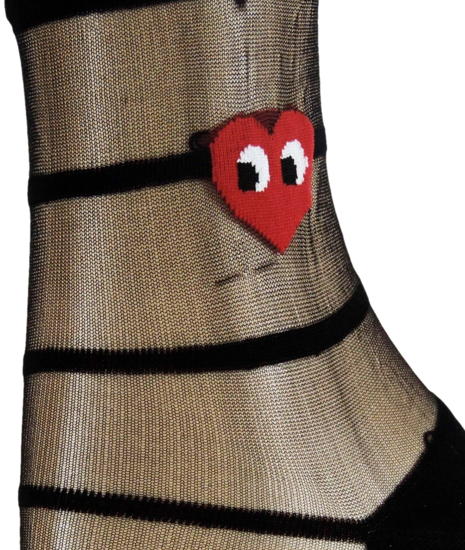 Red Heart Sheer Socks - Global Trendz Fashion®
