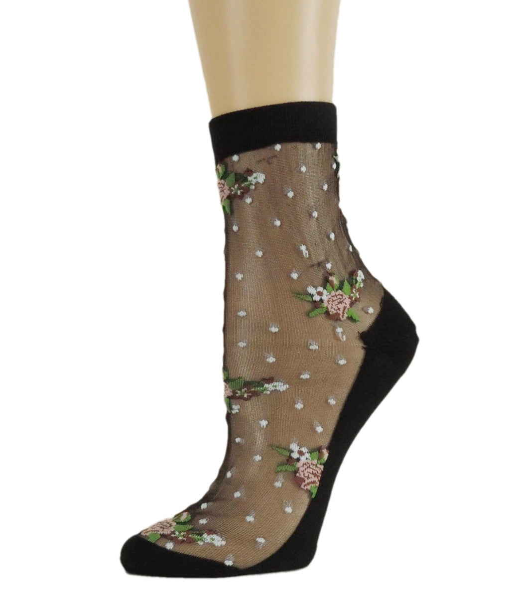 Flower Bunch Sheer Socks - Global Trendz Fashion®
