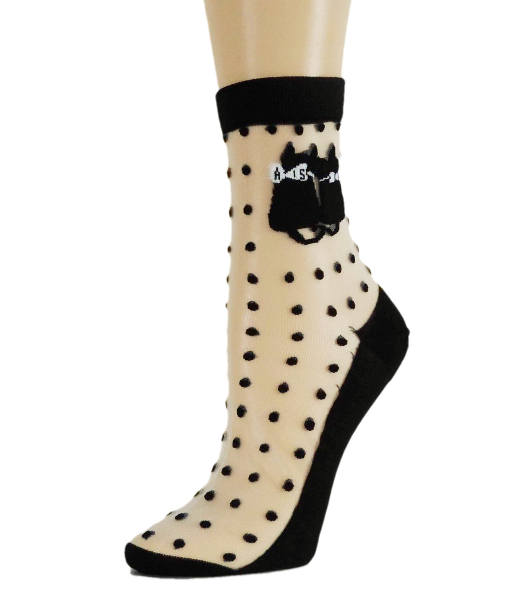 Twin Cat Dotted Sheer Socks - Global Trendz Fashion®