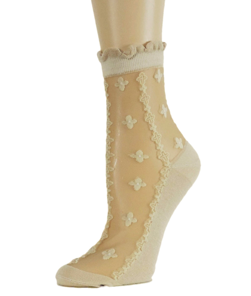 Four Leaf Sheer Socks - Global Trendz Fashion®