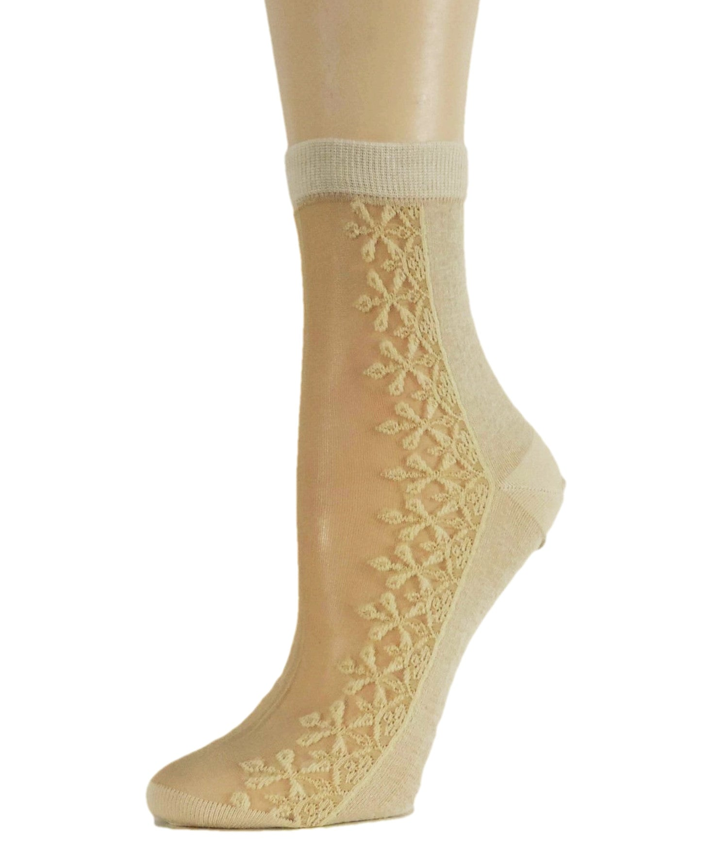 Sequence Floral Sheer Socks - Global Trendz Fashion®