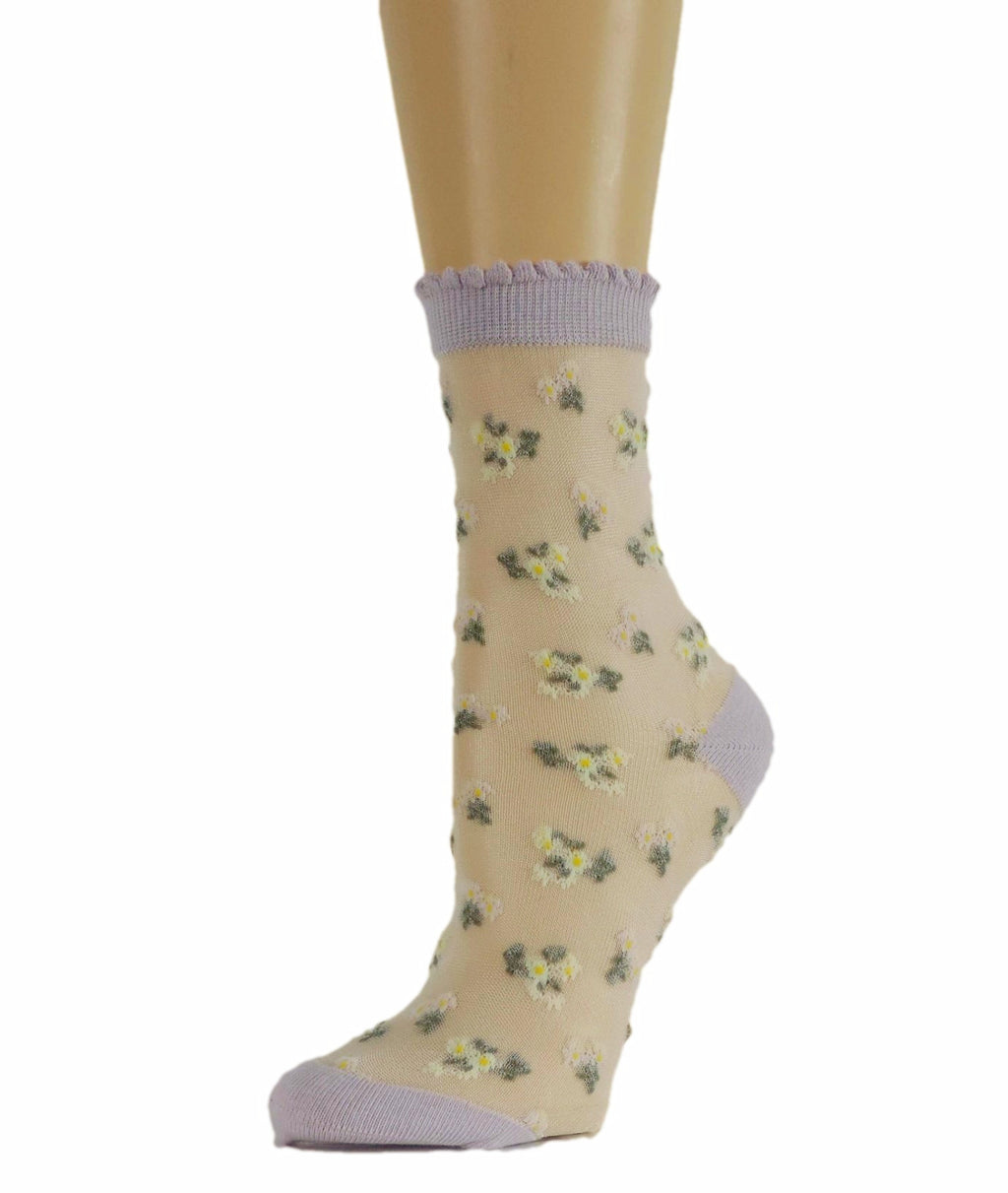 Tiny Floral Sheer Socks - Global Trendz Fashion®