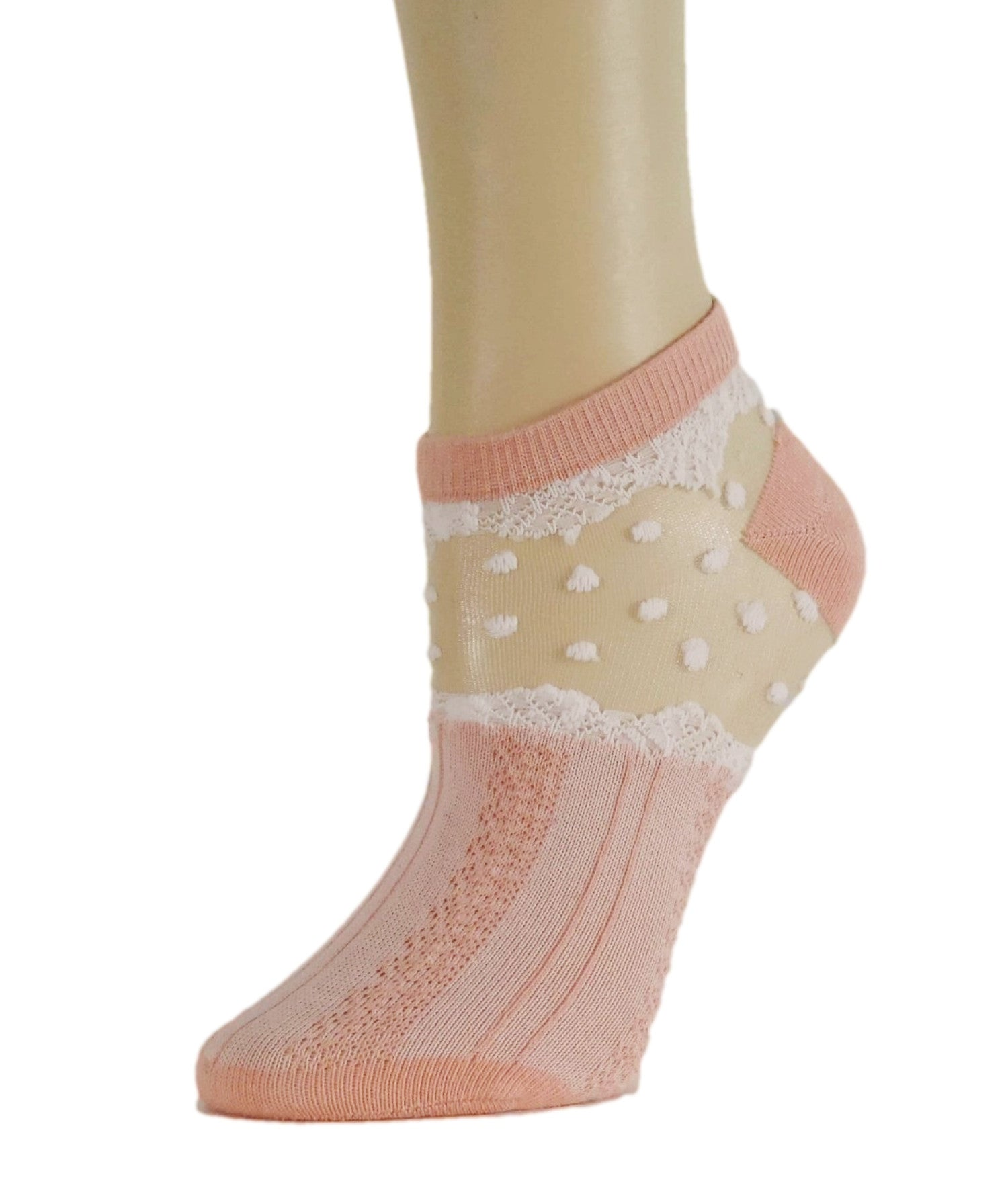Pretty Peach Ankle Sheer Socks-Global Trendz Fashion®