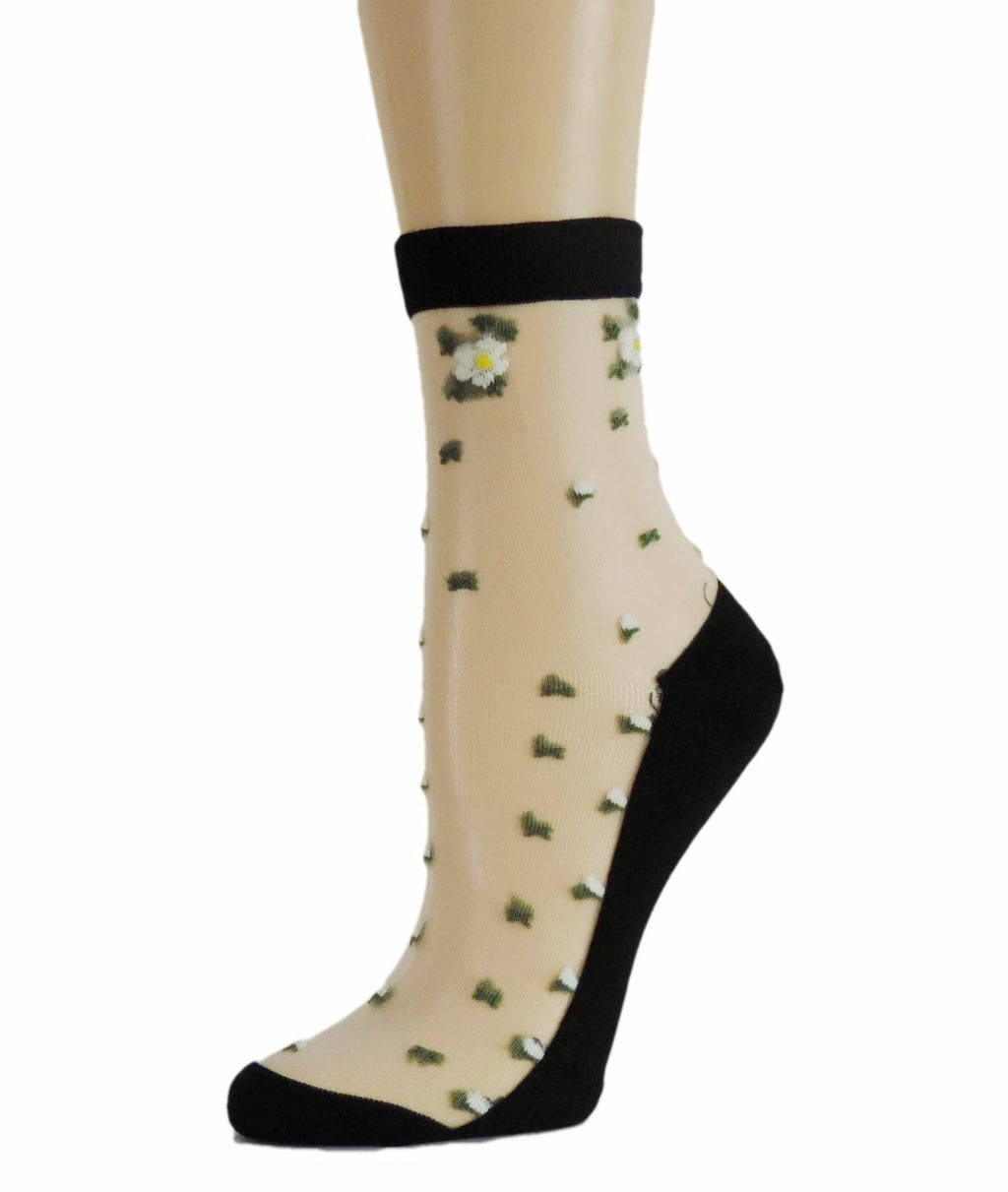 Mini Flowers Sheer Socks - Global Trendz Fashion®