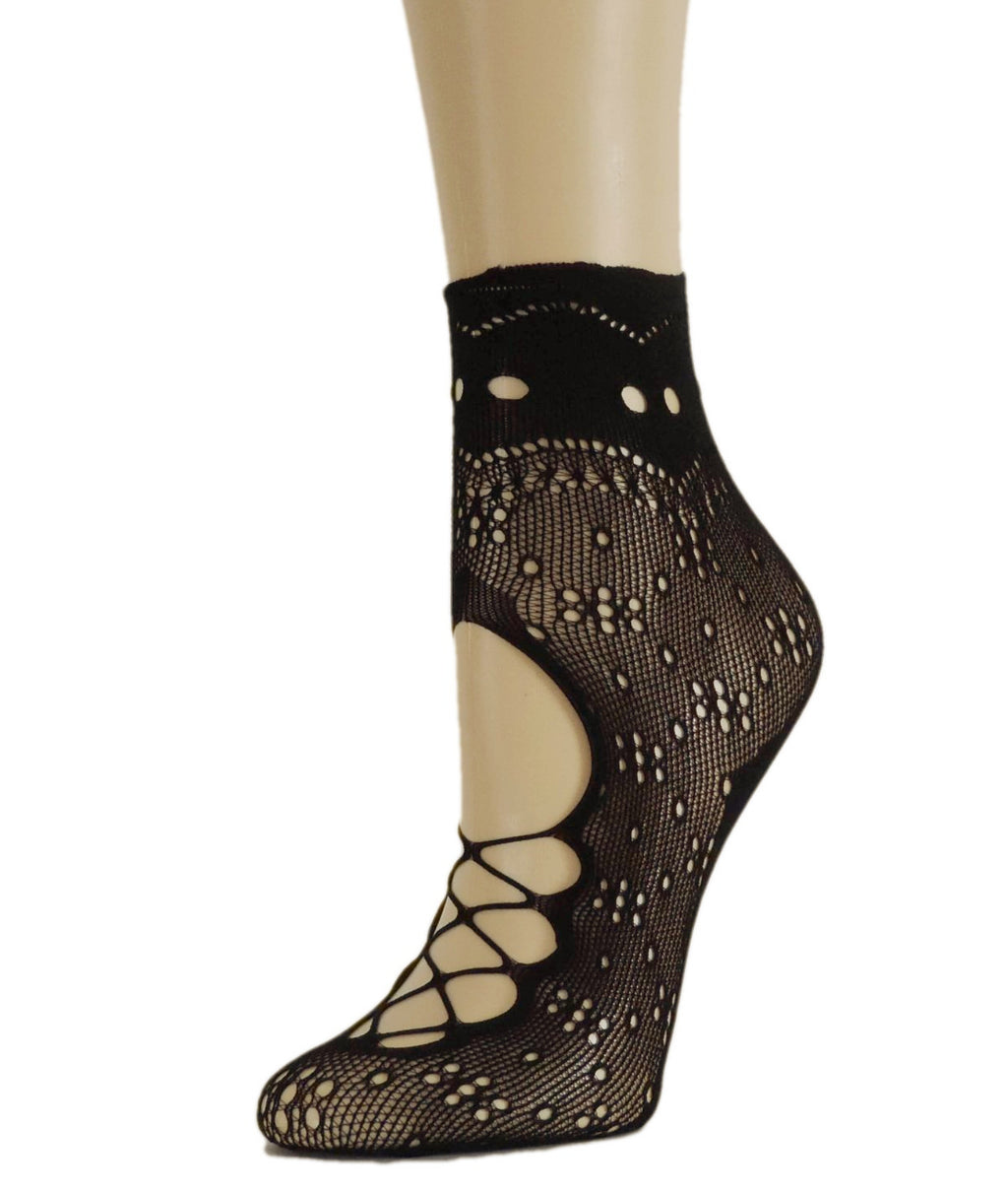 Wild Black Mesh Socks-Global Trendz Fashion®