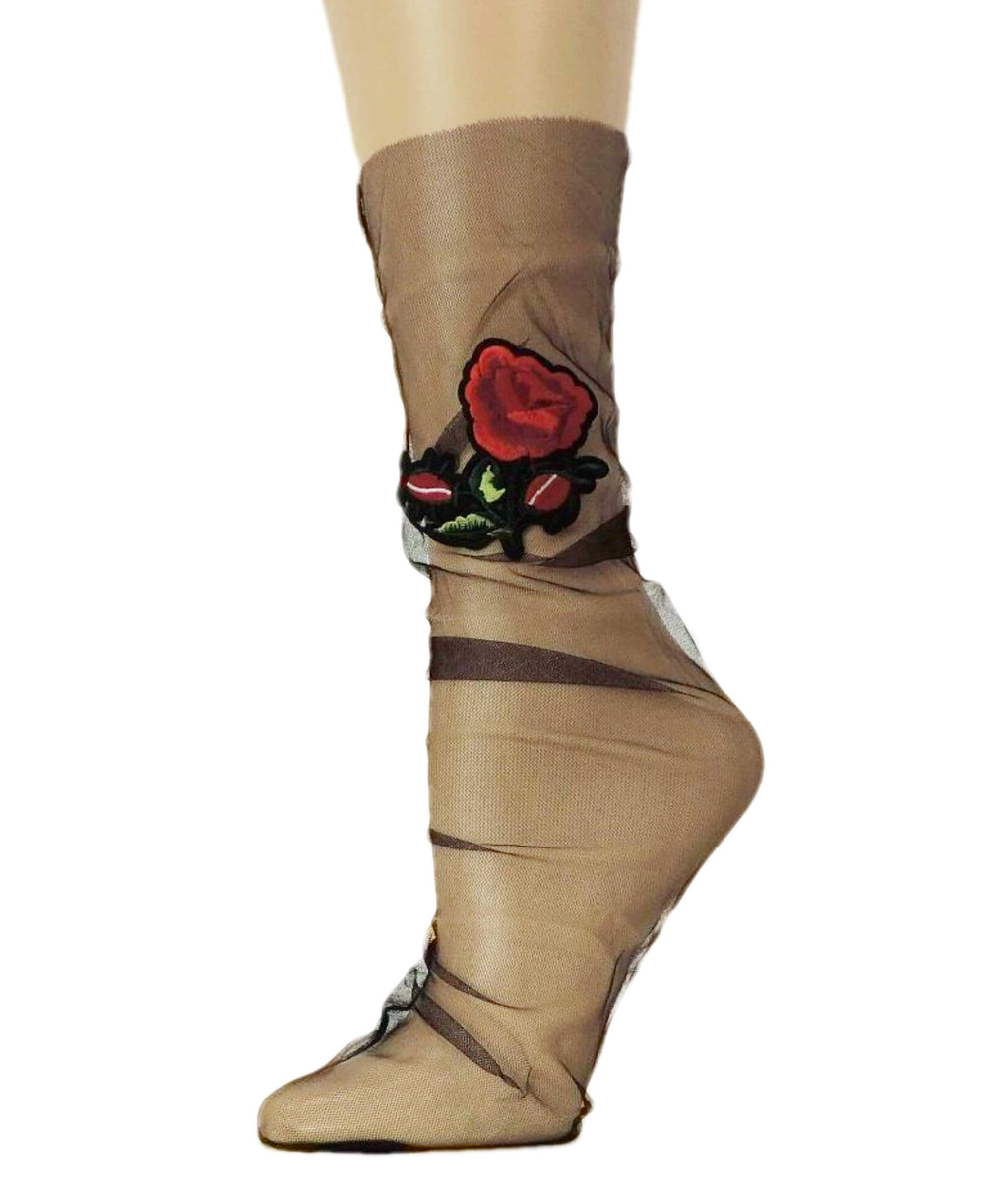 Red Rose Tulle Socks - Global Trendz Fashion®