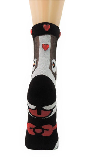 Puppy Custom Sheer Socks with Beads - Global Trendz Fashion®