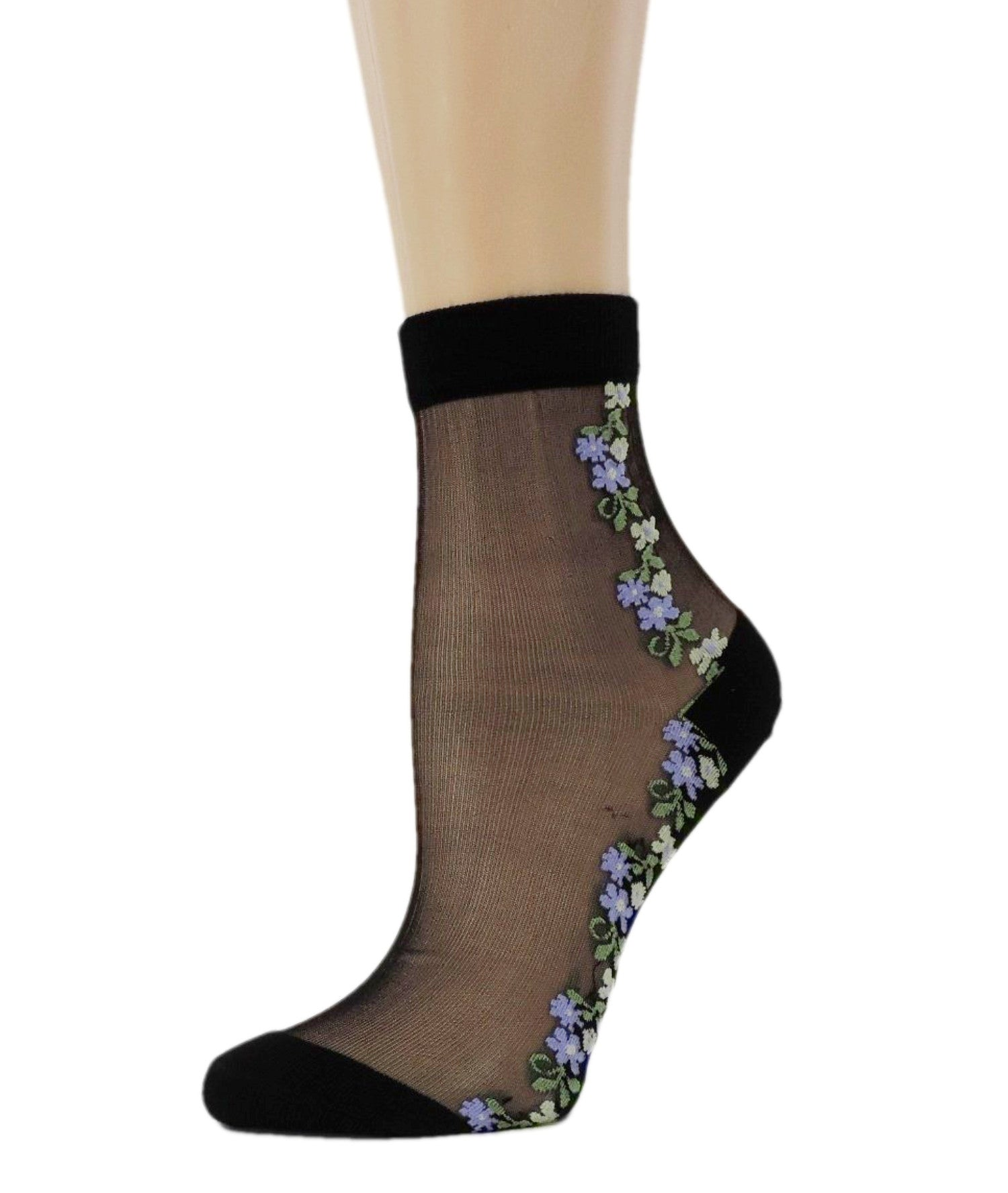 Delicate Flowers Sheer Socks - Global Trendz Fashion®