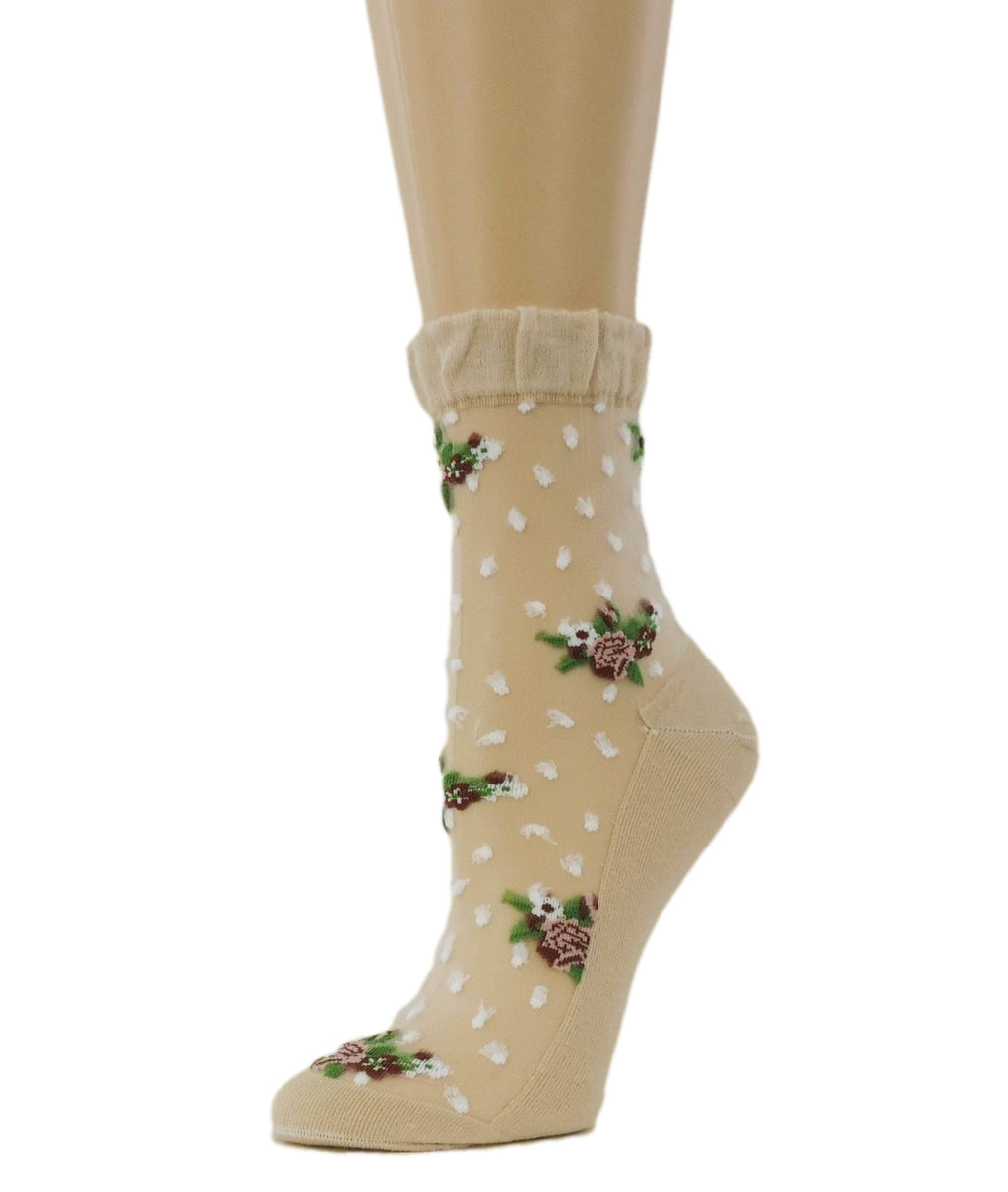 Flowers Bunch Sheer Socks - Global Trendz Fashion®
