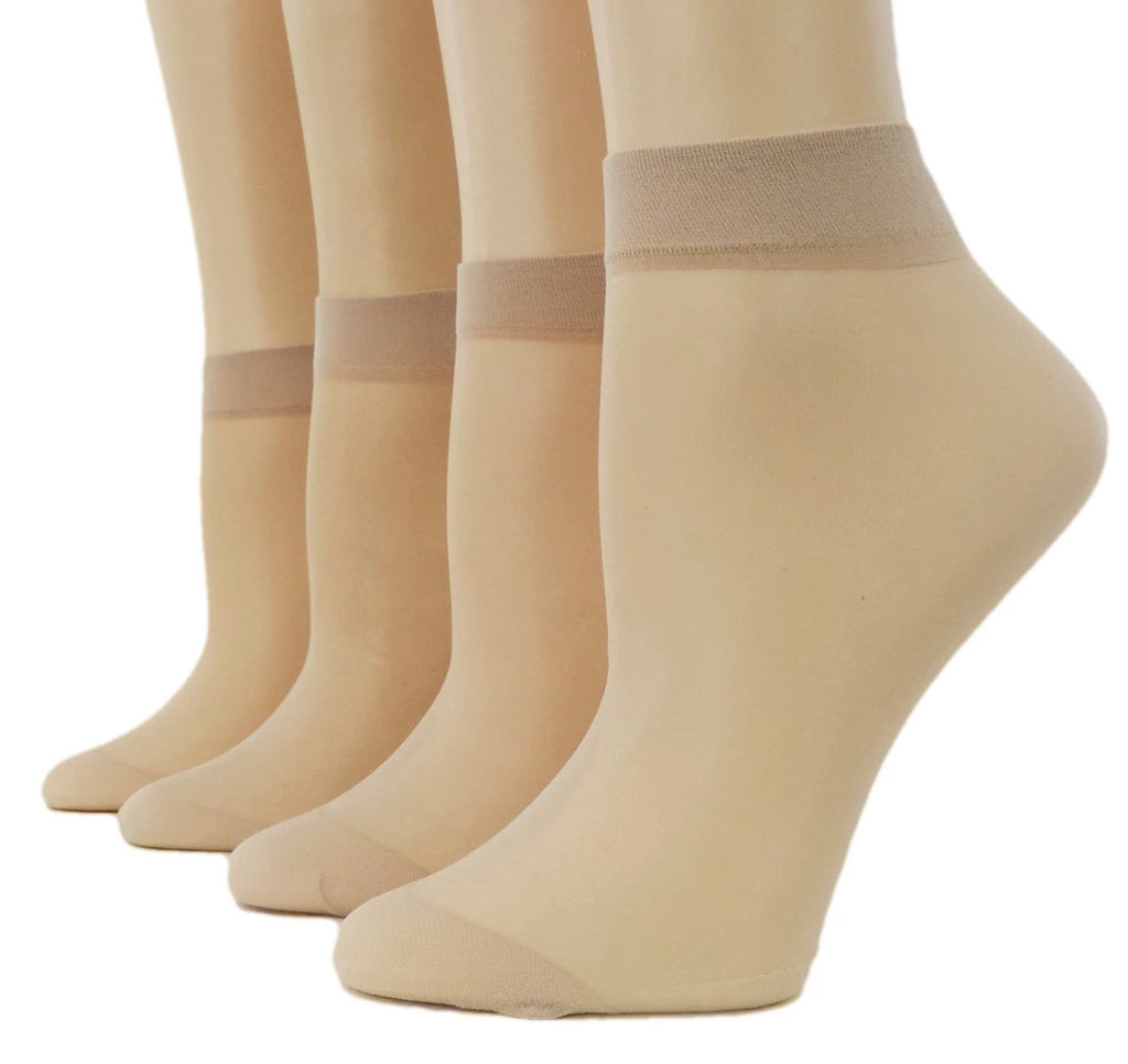 Beige Nylon Socks (Pack of 10 Pairs) - Global Trendz Fashion®