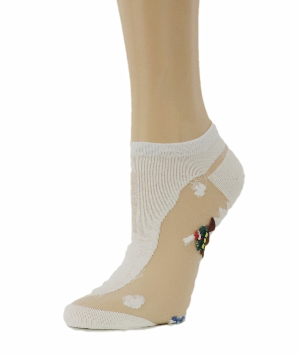 Pretty White Ankle Sheer Socks - Global Trendz Fashion®