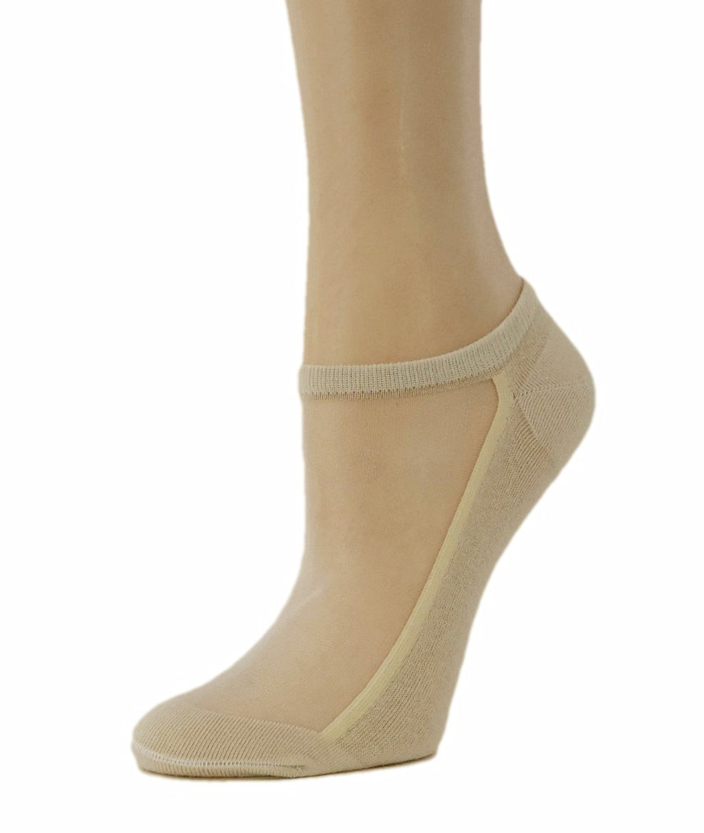 Sleek Beige Ankle Sheer Socks - Global Trendz Fashion®