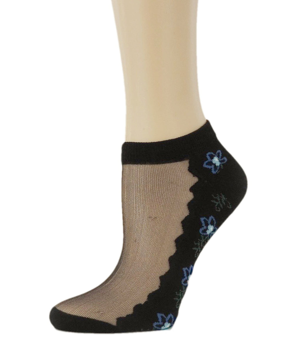 Charming Seablue Ankle Sheer Socks - Global Trendz Fashion®