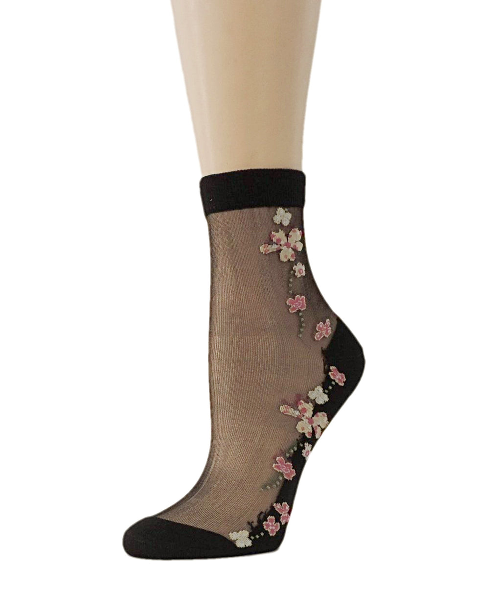Summer Flowers Sheer Socks - Global Trendz Fashion®