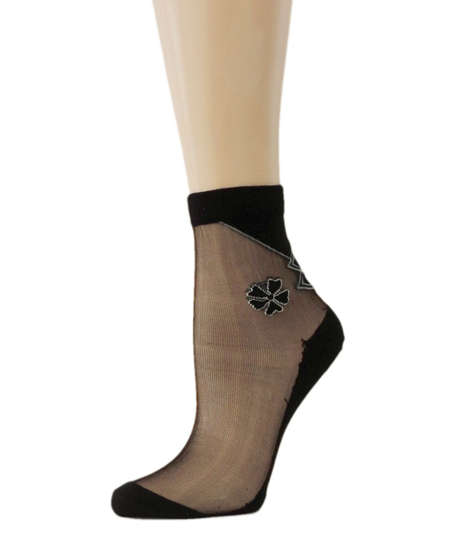 Five Leaf Petal Sheer Socks - Global Trendz Fashion®