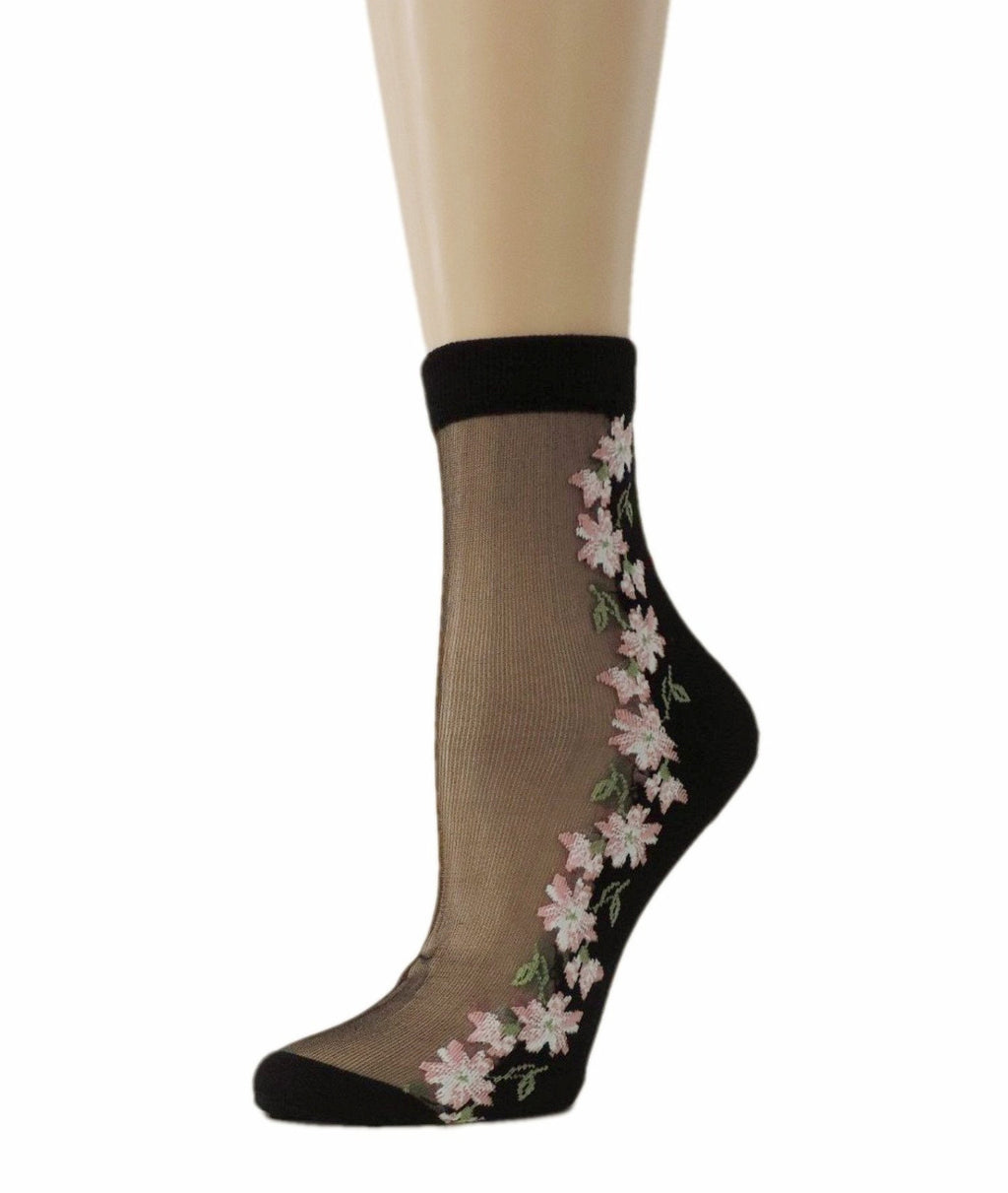 Happy Flowers Sheer Socks - Global Trendz Fashion®