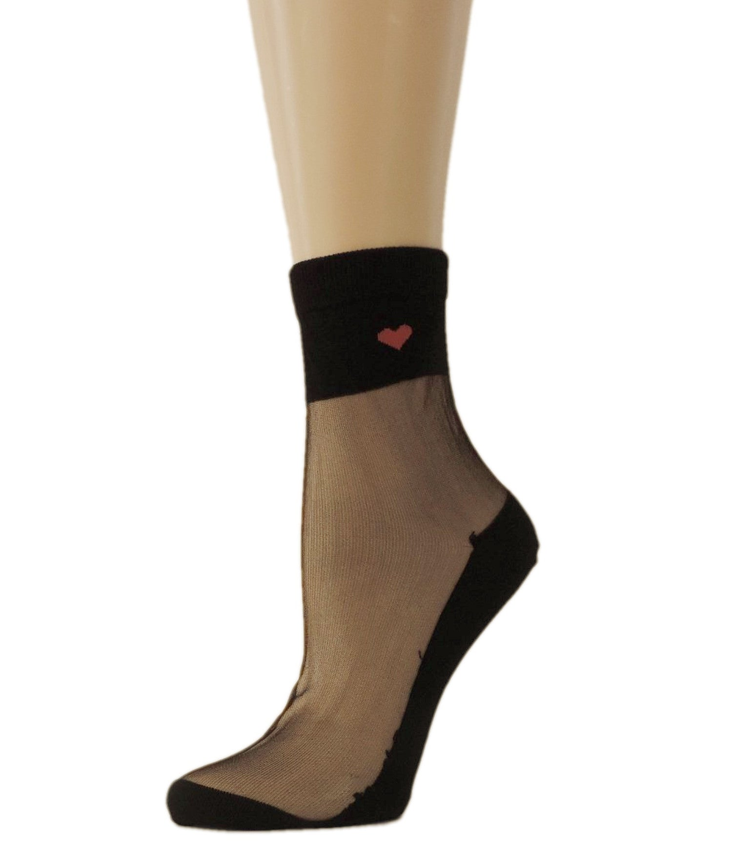 Young Heart Black Sheer Socks - Global Trendz Fashion®
